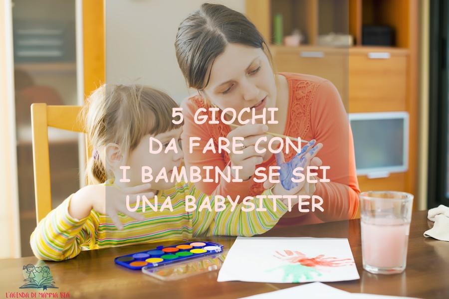 giocare insieme alla babysitter con L'Agenda di mamma Bea