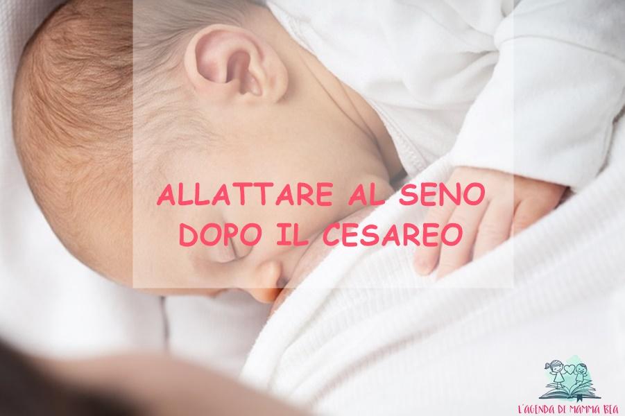 allattamento dopo il cesareo spiegato da L'Agenda di mamma Bea